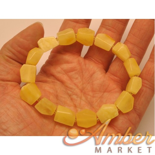 Faceted yellow  beads Baltic amber bracelet