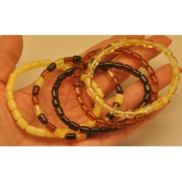 Lot of 5 greek style Baltic amber bracelets