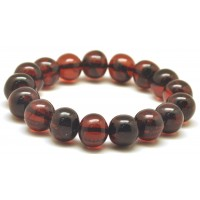 Baroque beads cherry Baltic amber bracelet