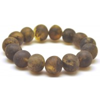 Raw healling baroque beads Baltic amber bracelet