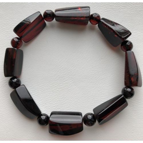 Faceted beads amber bracelet