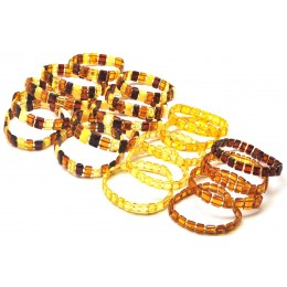 Lot of 20 elastic amber bracelets