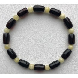 Barrel shape cherry amber bracelet