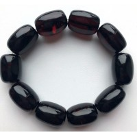Big cherry barrel shape Baltic amber bracelet