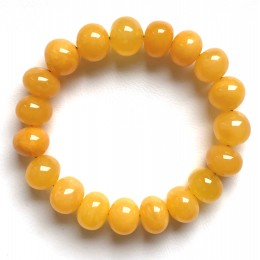 Antique color Baltic amber baroque beads bracelet