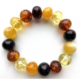 Genuine BALTIC AMBER Baroque Shape Beads Stretch Bracelet