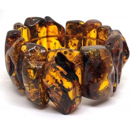 Natural shape BALTIC AMBER  bracelet