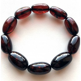Olive Shape Beads Genuine Baltic Amber Bracelet