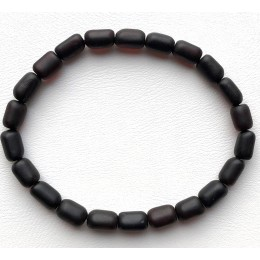 Unpolished Amber Bead bracelet For Men