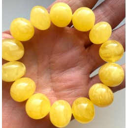 AMBER BRACELET Natural Baltic Amber Baroque Beads 30 g.