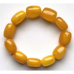 Antique barrel shape Baltic Amber bracelet 23 g.
