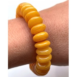 Antique color Baltic amber elastic bracelet 19 g