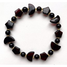 Cherry Star And Moon Beads Baltic Amber Bracelet