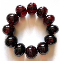 Large BALTIC AMBER Baroque Beads Bracelet 47g