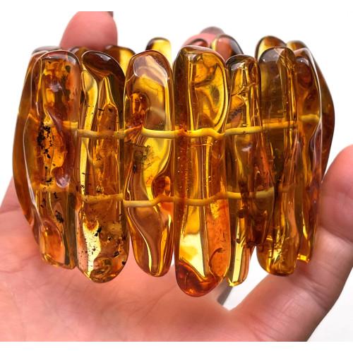 Natural shapes Baltic Amber bracelet 70 g