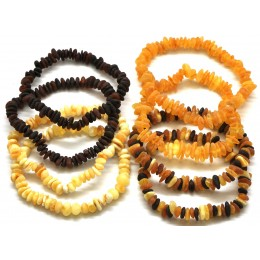 8 Raw Baltic amber chip bracelets