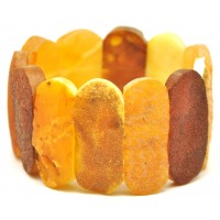Raw classic multicolor Baltic amber bracelet