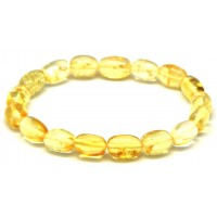 Lemon olive shape Baltic amber bracelet