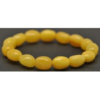 Antique Baltic amber olive shape bracelet
