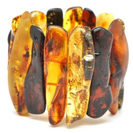 Massive natural shapes  Baltic amber bracelet 85 g .