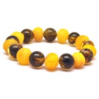 Mixed Baltic amber bracelet