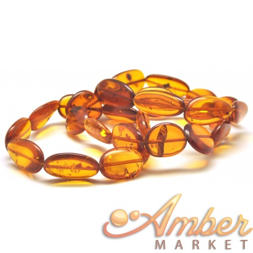 Lot of 3 Baltic amber big beads bracelets