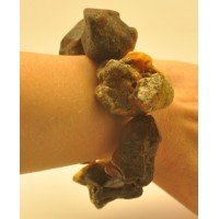 Raw healing natural shapes Baltic amber bracelet
