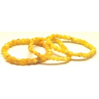 Lot of 3 faceted yellow  Baltic amber bracelets