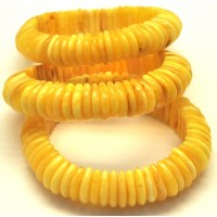 Lot of 3 Baltic amber elastic bracelets