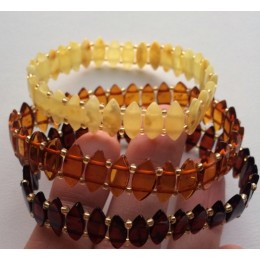 Lot of 3 elastic amber bracelets