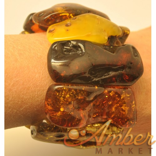 Natural shapes  Baltic amber bracelet 115 g.