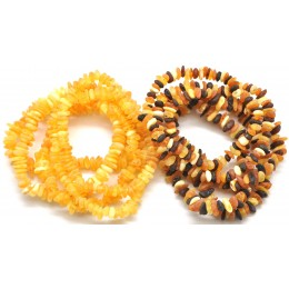 10 Raw Baltic amber chip bracelets