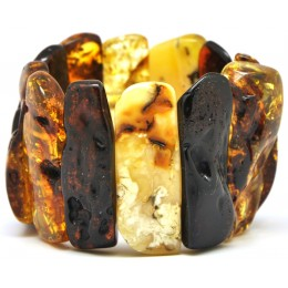 Natural shapes Baltic amber bracelet 75 g.