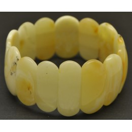 Classic white  Baltic amber bracelet