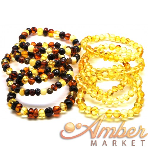 Lot of 10 baroque beads Baltic amber bracelets