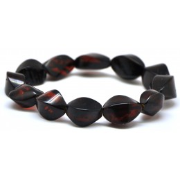 Faceted cherry Baltic amber bracelet