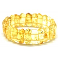 Faceted lemon Baltic amber bracelet