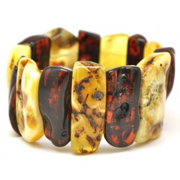 Natural shapes Baltic amber bracelet 59 g.