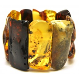 Natural shapes Baltic amber bracelet 72 g.