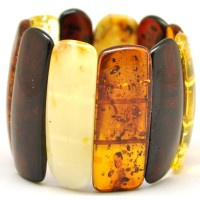 Multicolour Baltic amber bracelet 60 g.