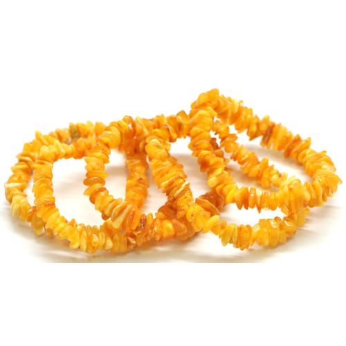 Lot of 5  Baltic amber chip bracelets