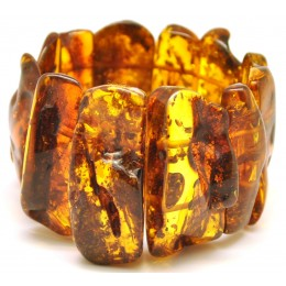 Natural shapes Baltic amber bracelet 63 g.