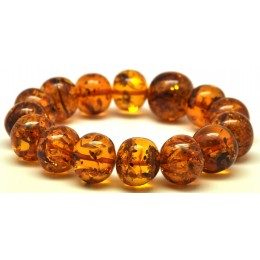 Baroque beads Baltic amber bracelet
