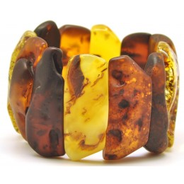 Mixed raw and polished  Baltic amber bracelet