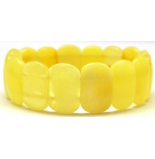 Classic yellow- white Baltic amber bracelet