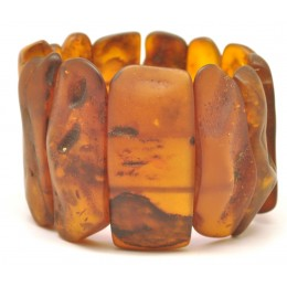 Natural shapes unpolished Baltic amber bracelet 63 g .