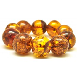 Massive baroque beads Baltic amber bracelet 92 g.