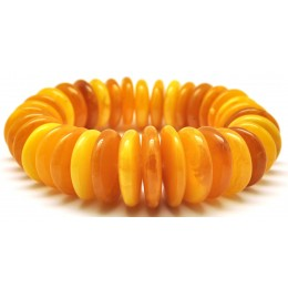 Massive Antique color Baltic amber bracelet 68 g .