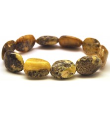 Baltic amber big beads bracelet