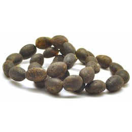 Lot of 3 Raw healing big beads Baltic amber bracelets